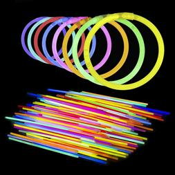 Lumistick 10 Inch Glow Sticks Necklace and Bracelet with Con