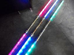 2 Galactic Wars Dual Lightsaber Led 6-FX Double 2-Sided Toy