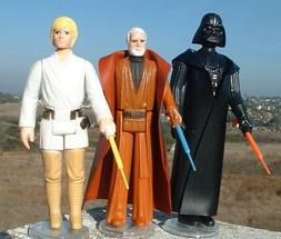 "3 LOT 2""REPRO Extension LIGHTSABER Yellow,Red,Vader,Luke,Ben"
