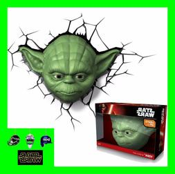 3D FX LED WALL DECO LIGHT - STAR WARS YODA FACE AND/OR HAND