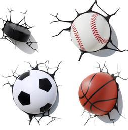 3D Light FX Sports MINI Basketball Hockey Soccer Baseball 3D