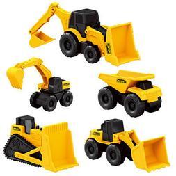 5Pcs Play Vehicles Construction Vehicle Truck Cars Toys Set
