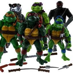 6 PCS Teenage Mutant Ninja Turtles 2nd Action Figures Classi