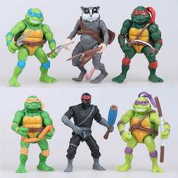 6pcs Teenage Mutant Ninja Turtles Action Figures  Classic Co