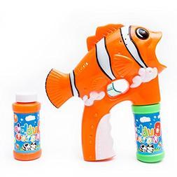 Fun Central R382 LED Light Up Fish Bubble Gun, Fish Bubble B