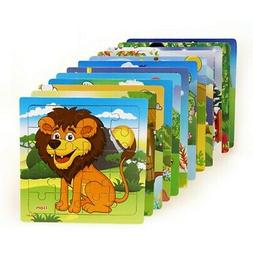 Baby Wooden Puzzle Jigsaw Toddler Early Learning Educational