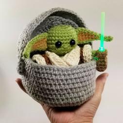 Baby Yoda Crochet Amigurumi Plush Doll The Child Mandalorian