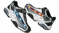 Childrens Star Wars Dueling Light-Sabers Grey White Sneakers