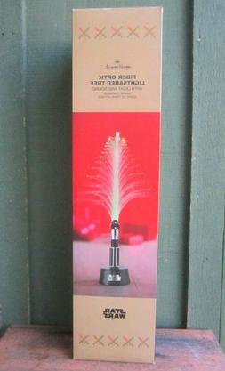 Disney Hallmark Star Wars Fiber Optic Lightsaber Tree w Ligh