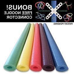 Famous Foam Pool Noodles - 5 PACK Random Colors
