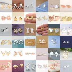 Fashion Women's Girl 925 Silver Sterling Earrings Cute Ear S