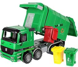 Click N' Play Friction Powered Garbage Truck Toy with Garbag