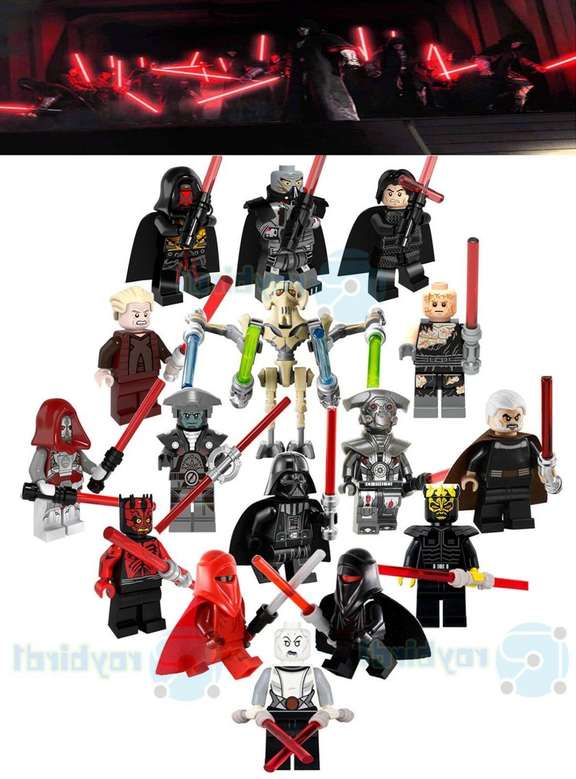 16pcs star battle evil lightsaber jedi order