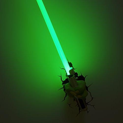 3DLightFX Star Wars Yoda Hand with Lightsaber Deco