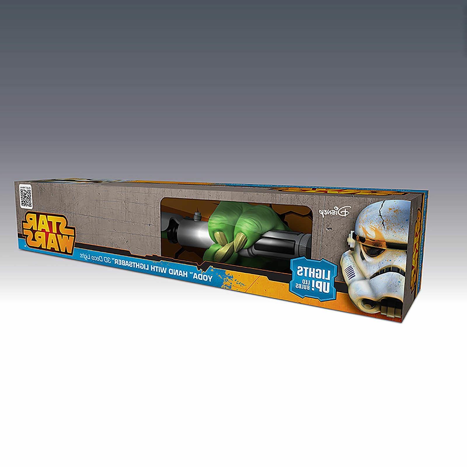 3D FX Deco LED Night Light Star Wars Yoda Hand with Lightsab