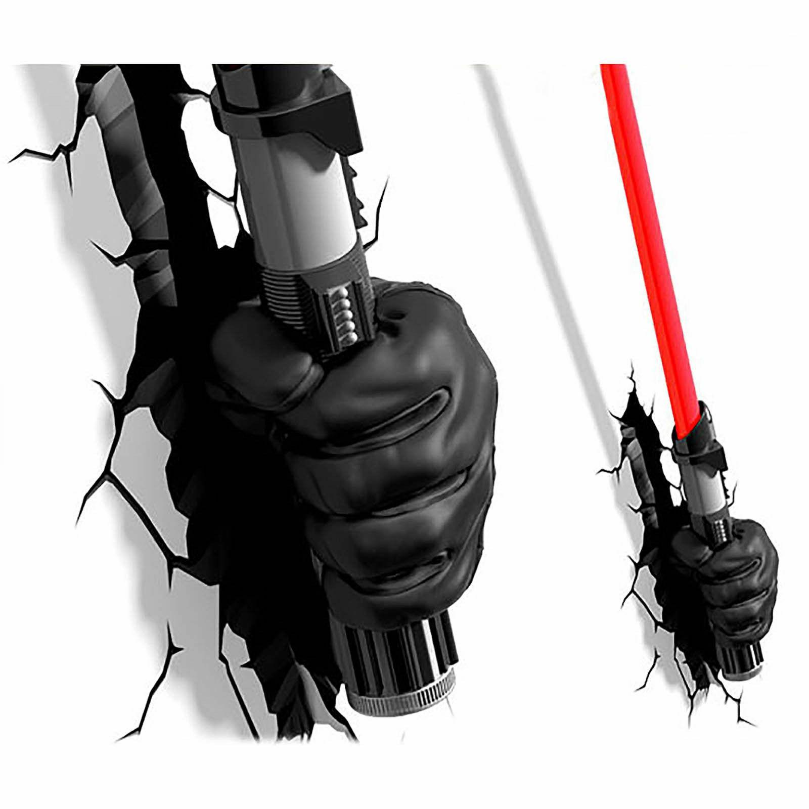 3D Star Wars Darth Vader Hand with Lightsaber FX LED Night L