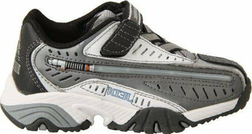 Childrens Dueling Light-Sabers Grey White Sneakers YB40670