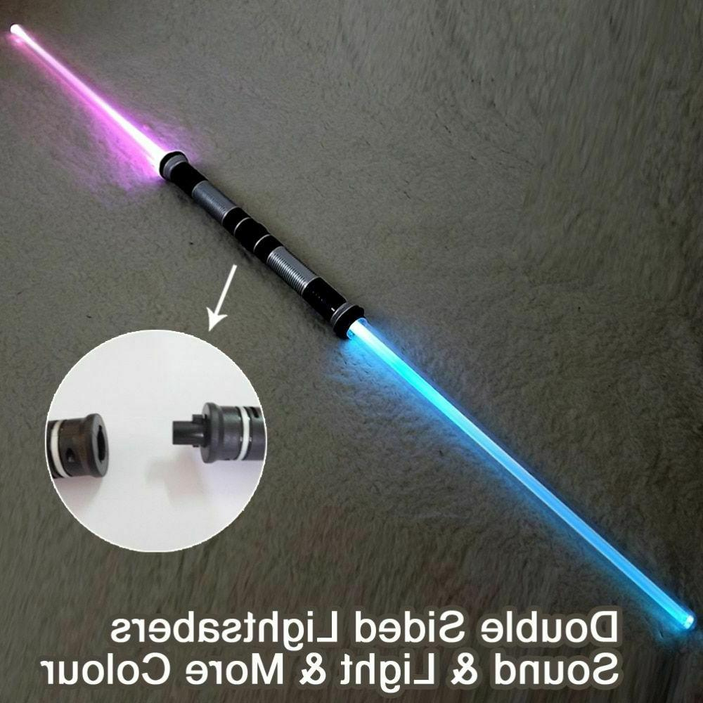 Light Saber Cosplay Props Kids Double Light Sound Toy Sword