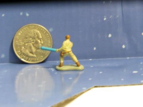 Micro Luke Figure Lightsaber Wars