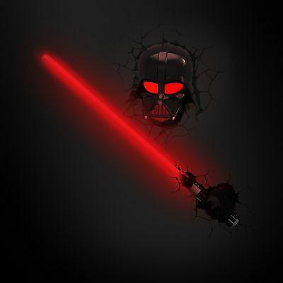 3D Wars Darth Vader with LED Wall Light...