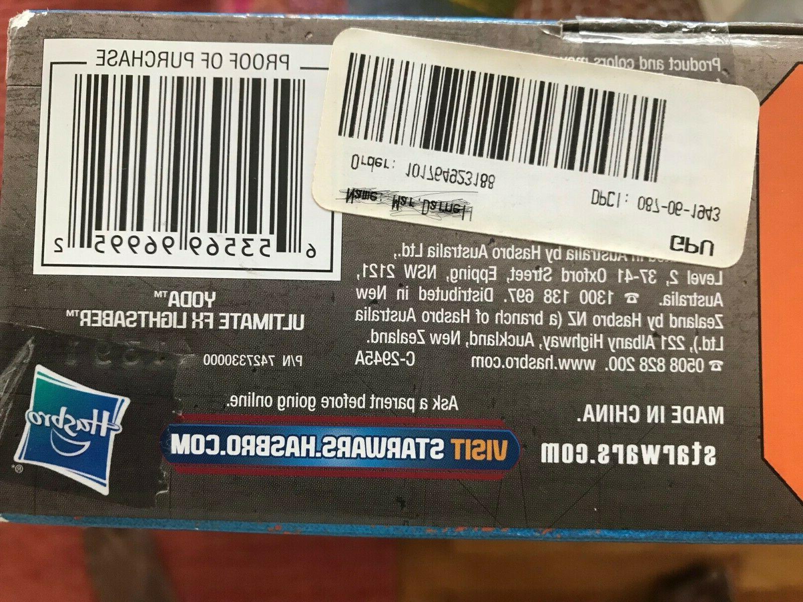 Ultimate Fx Lightsaber Hasbro NEW BOX FREE SHIPPING