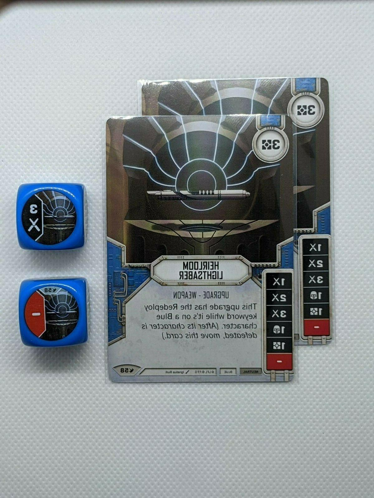 x2 heirloom lightsaber 58 star wars destiny