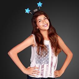 FlashingBlinkyLights Light Up Blue Star Head Boppers Headban