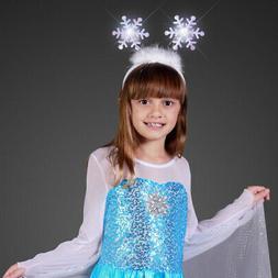 FlashingBlinkyLights Light Up Snowflakes Head Boppers Headba