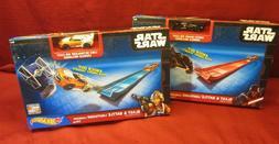 LOT 2 Hot Wheels Star Wars Lightsaber Launcher DARTH VADER &