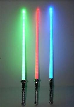 LOT OF 3  STAR WARS LIGHTSABER LIGHT SABER SWORD TOY BEST PR