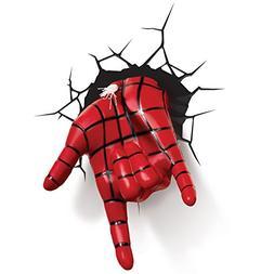 3D Light FX Marvel Spiderman Hand 3D Deco LED Wall Light(Dis