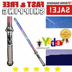 Multi Color Changing Light Saber Toy Sword Kids Dueling Cust