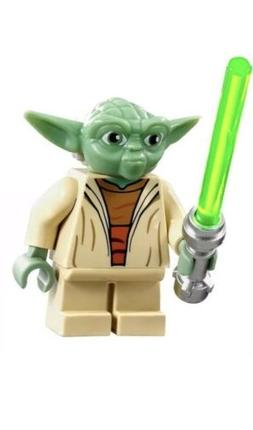 New Custom Minifigure Star Wars Yoda With Jedi Lightsaber AR