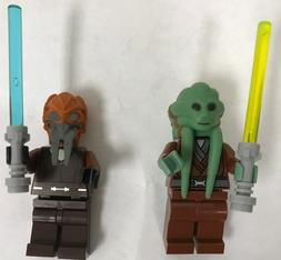NEW LEGO STAR WARS . JEDI KIT FISTO AND PLO KOON WITH LIGHTS