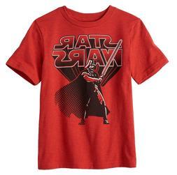 NWT Star Wars Darth Vader Boys Lightsaber Red Tee, Boys Size