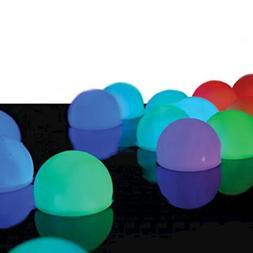 FlashingBlinkyLights Set of 12 Mood Light Garden Deco Balls-