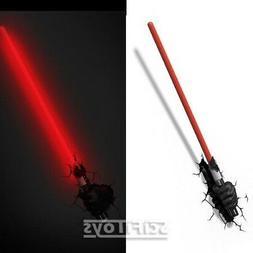 STAR WARS Darth Vader's Lightsaber 3D DECO ROOM WALL NIGHT L