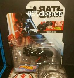 Star Wars Hot Wheels DARTH VADER WITH SWING OUT LIGHTSABER c