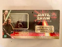 Star Wars Episode 1 'Clash Of The Lightsabers Card Game' w/