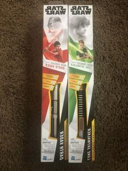 Star Wars Red And Green Electronic Light Sabers Luke Skywalk