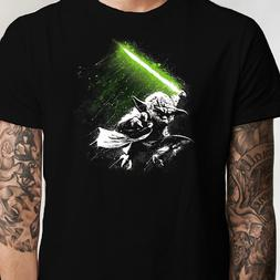 Star Wars Yoda Jedi Master Lightsaber T Shirt  Luke Vader Sk