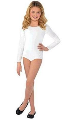 Amscan White Bodysuit - Child S/M Brand NEW in the PAckage