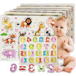 Wooden Puzzle Baby Hand Toy Grasp Kid Early Educational Toy
