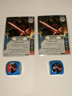 X2 Crossgaurd lightsaber #7 Star Wars Destiny w/ die X2