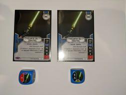 X2 Luke Skywalker's Lightsaber # 41 Star Wars Destiny Awaken