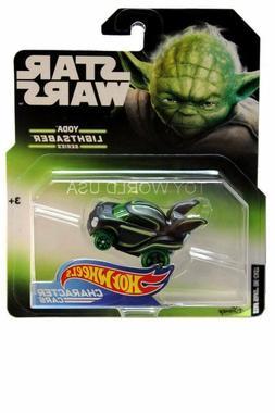 Yoda Lightsaber Series Hot Wheels Star Wars Character Cars -